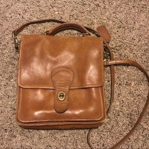 Vintage Coach leather station bag
